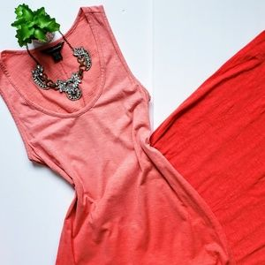 Tommy Bahama Pink Ombre Dip Dye Maxi Dress XS